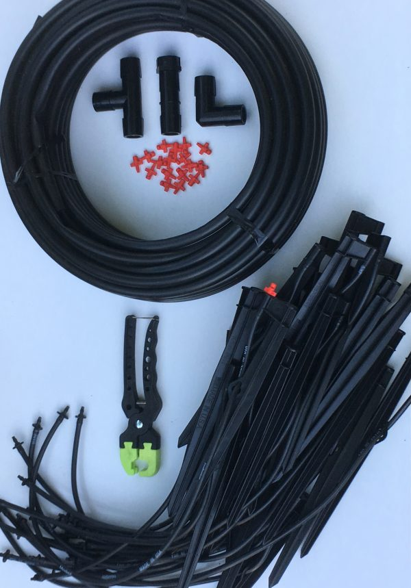 Our easy install kit allows you to quickly hook into any faucet or garden hose